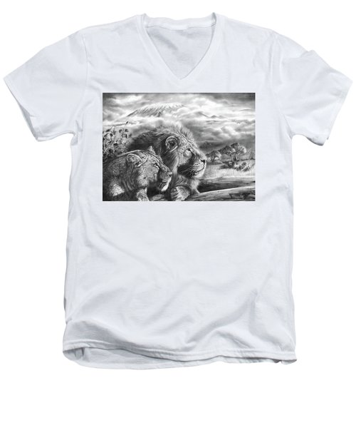 The Snows Of Kilimanjaro Men's V-Neck T-Shirt
