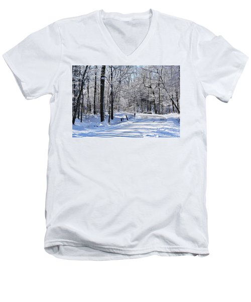 The Snowy Road 1 Men's V-Neck T-Shirt