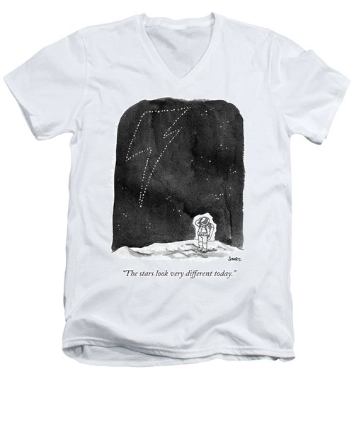 The Stars Look Very Different Today Men's V-Neck T-Shirt