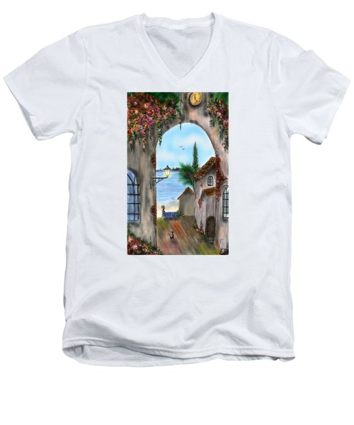 The Street Men's V-Neck T-Shirt by Darren Cannell
