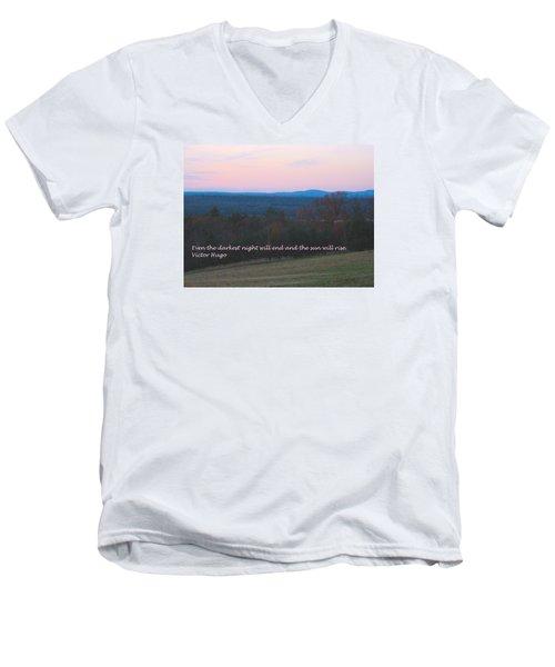 The Sun Will Rise Men's V-Neck T-Shirt