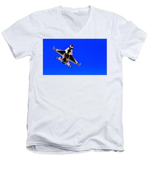 The Team Usaf Thunderbirds Men's V-Neck T-Shirt