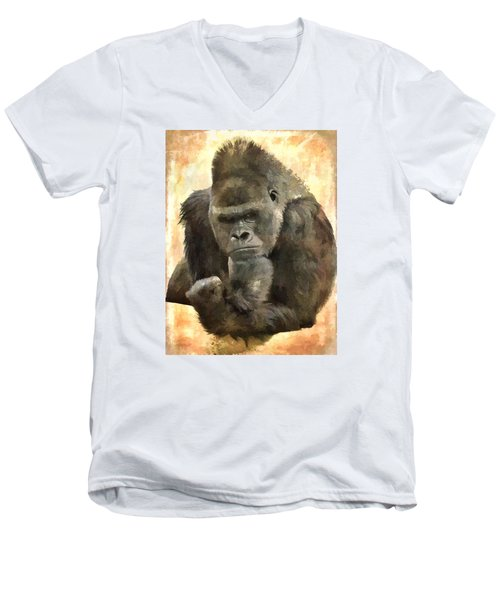 The Thinker Men's V-Neck T-Shirt