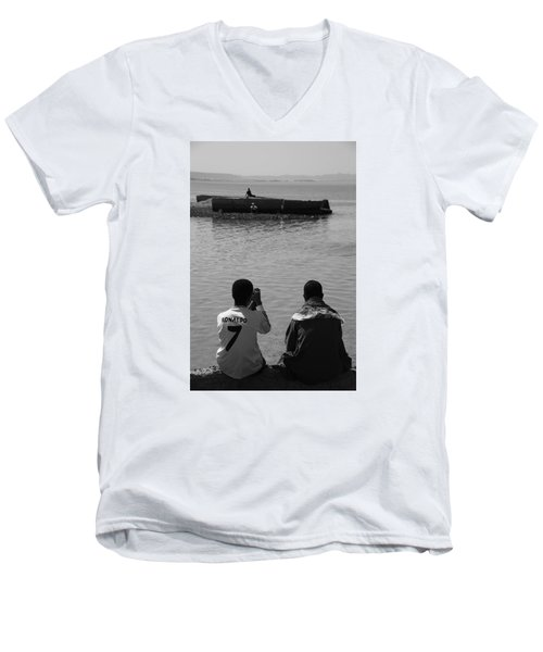 Men's V-Neck T-Shirt featuring the photograph The Thoughts Of Mermaids  by Jez C Self
