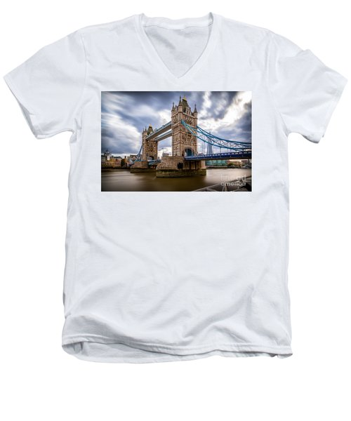 The Three Towers Men's V-Neck T-Shirt by Giuseppe Torre
