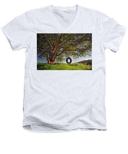 The Tire Swing Men's V-Neck T-Shirt