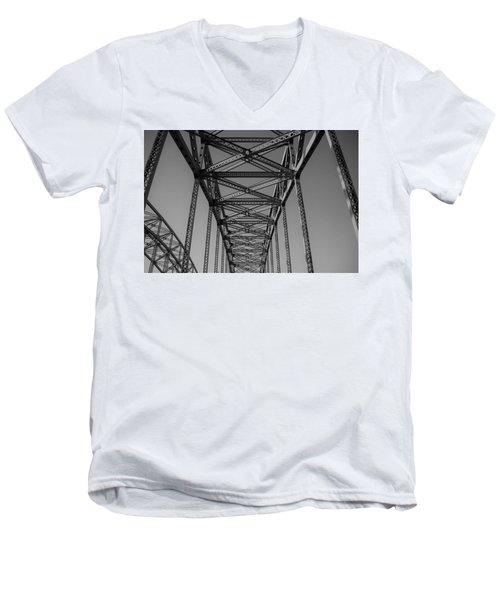 The Top Of Robert Moses Causeway Men's V-Neck T-Shirt