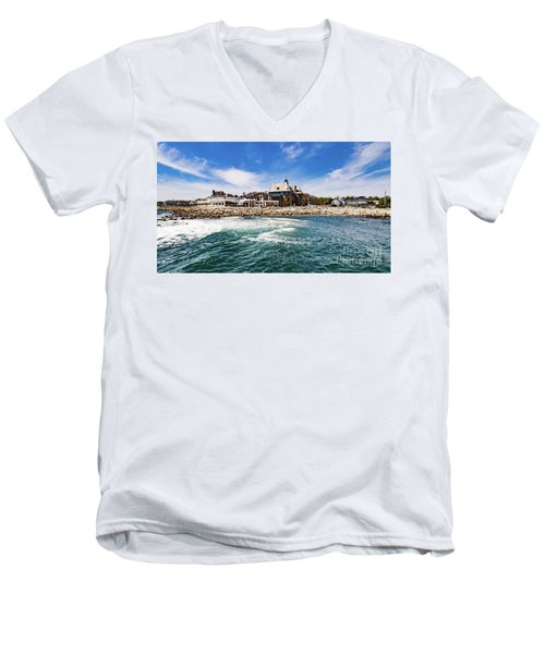 The Towers Of Narragansett  Men's V-Neck T-Shirt