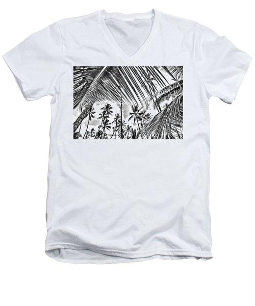 Men's V-Neck T-Shirt featuring the photograph The Tropics by DJ Florek
