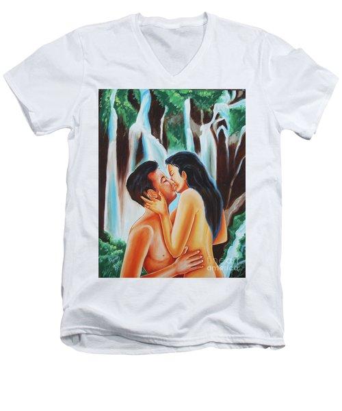 The True Nature Of Happiness Men's V-Neck T-Shirt by Ragunath Venkatraman