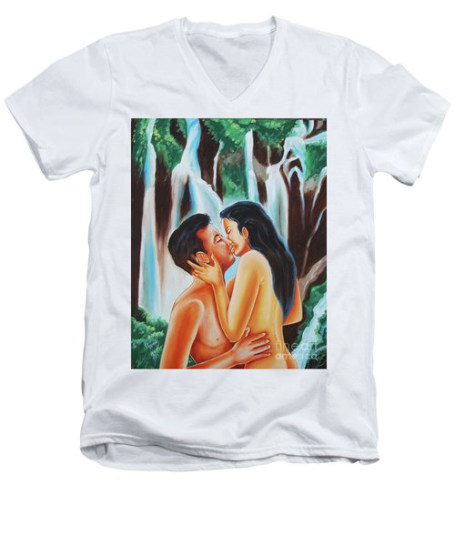 The True Nature Of Happiness Men's V-Neck T-Shirt