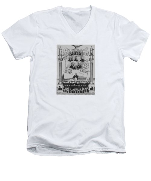 The Union Must Be Preserved Men's V-Neck T-Shirt by War Is Hell Store