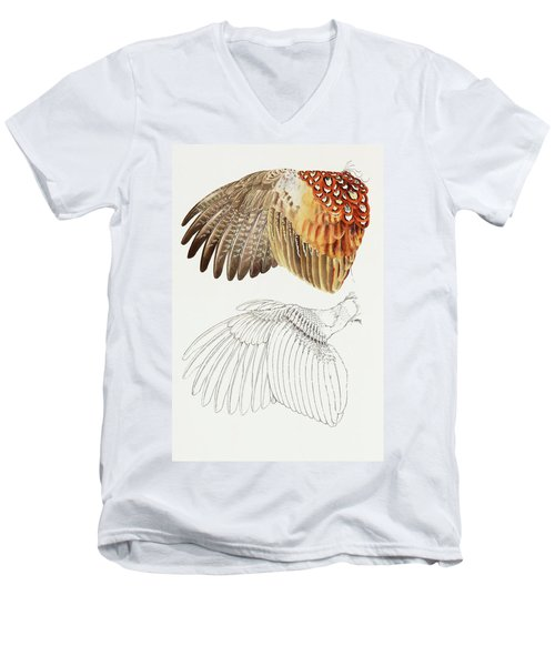 The Upper Side Of The Pheasant Wing Men's V-Neck T-Shirt