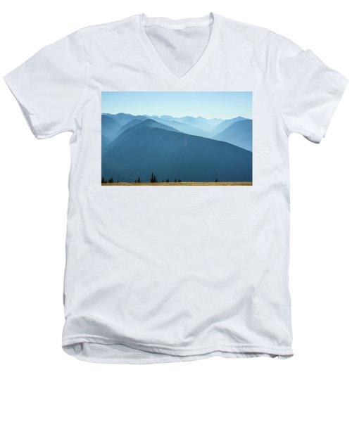 The View From Hurricane Ridge Men's V-Neck T-Shirt