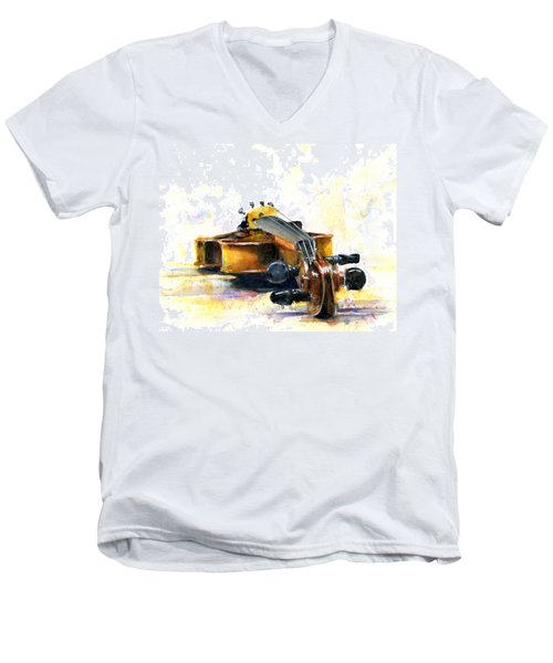The Violin Men's V-Neck T-Shirt