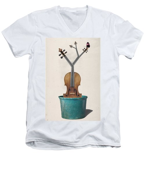 The Voilin Plant Men's V-Neck T-Shirt