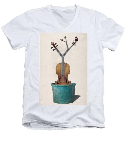 The Voilin Plant Men's V-Neck T-Shirt