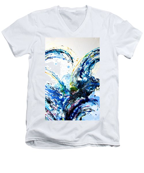 The Wave 2 Men's V-Neck T-Shirt by Roberto Gagliardi