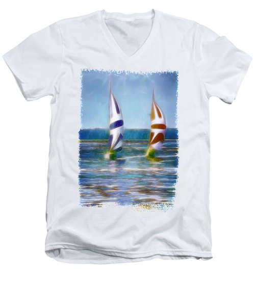 The Wind In Your Sails Men's V-Neck T-Shirt