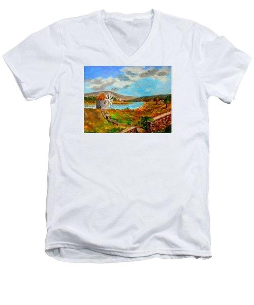 The Windmill Men's V-Neck T-Shirt