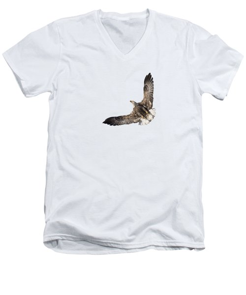 The Wings Of An Eagle 2018 Isolated Men's V-Neck T-Shirt