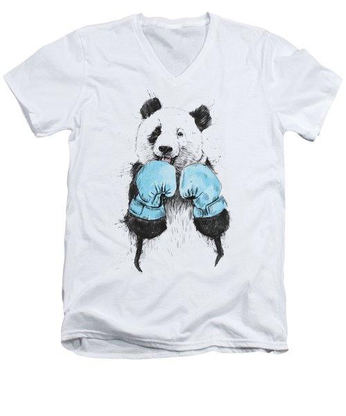 The Winner Men's V-Neck T-Shirt by Balazs Solti