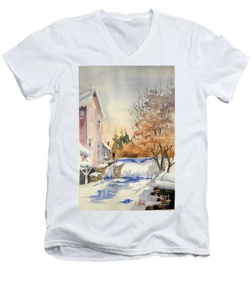 The Winter Mill Men's V-Neck T-Shirt
