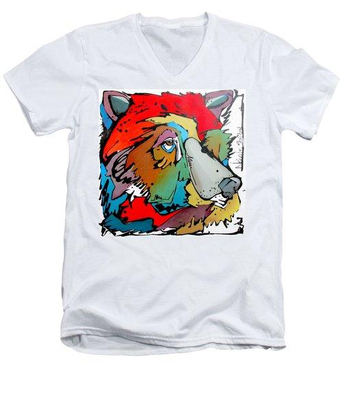 The Witness Men's V-Neck T-Shirt by Nicole Gaitan