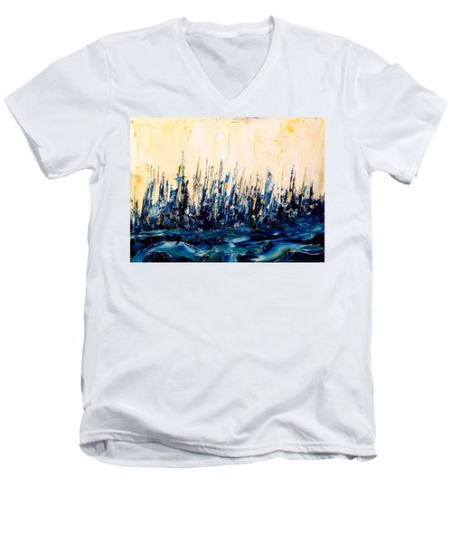 The Woods - Blue No.2 Men's V-Neck T-Shirt