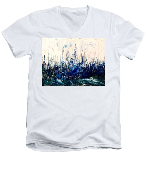 The Woods - Blue No.3 Men's V-Neck T-Shirt