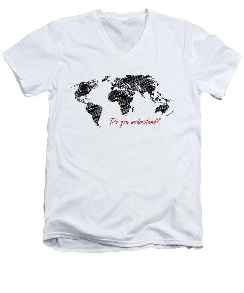 The World Belongs To Me Next Men's V-Neck T-Shirt