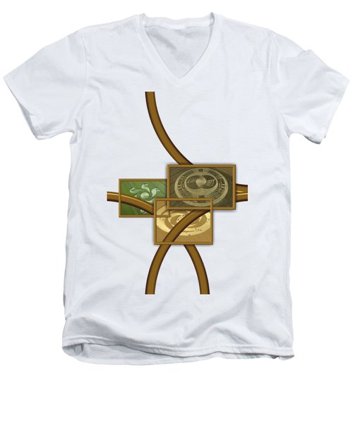 The World Of Crop Circles By Pierre Blanchard Men's V-Neck T-Shirt by Pierre Blanchard