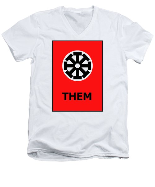 Them Men's V-Neck T-Shirt by Richard Reeve
