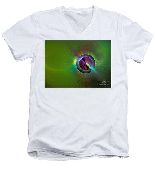 Theory Of Green - Abstract Art Men's V-Neck T-Shirt