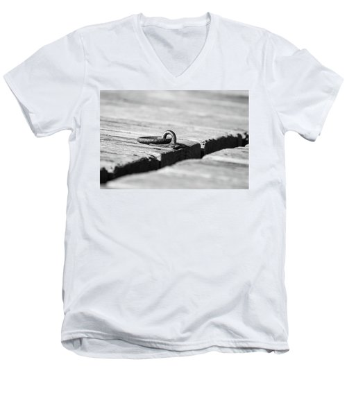 Men's V-Neck T-Shirt featuring the photograph There by Karol Livote