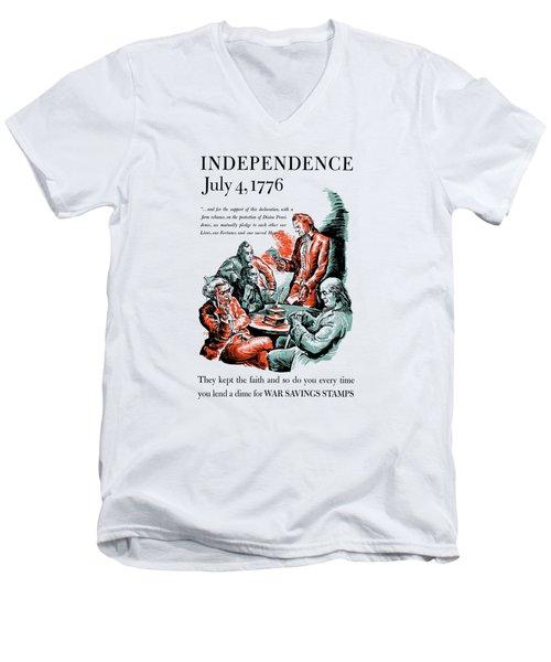 They Kept The Faith - Ww2 Men's V-Neck T-Shirt