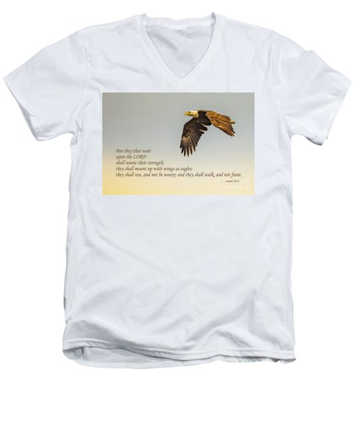 They That Wait Upon The Lord Men's V-Neck T-Shirt by John Roberts