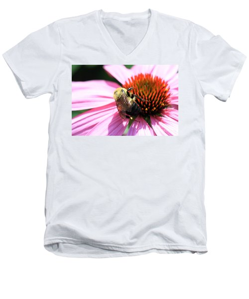 Men's V-Neck T-Shirt featuring the photograph Think Bees by Paula Guttilla