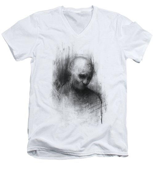 Thinker II Men's V-Neck T-Shirt by Bruno M Carlos