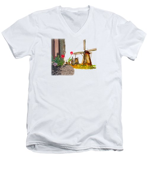 Thinkin Bout Home Men's V-Neck T-Shirt by Larry Bishop