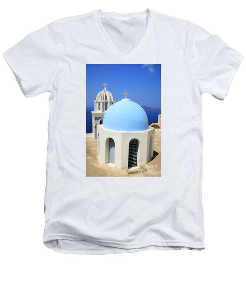 Thira Chapel Men's V-Neck T-Shirt