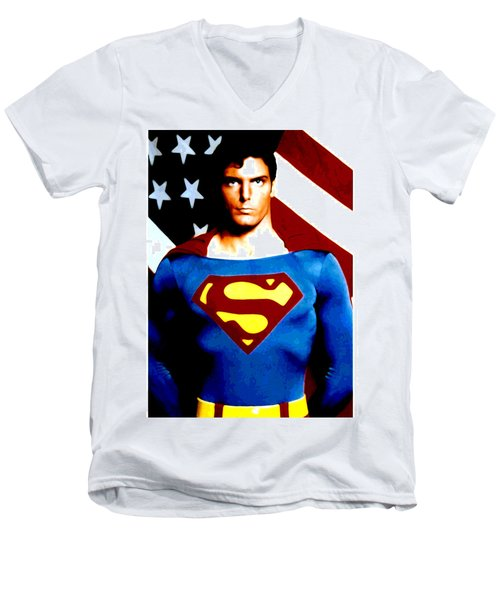This Is Superman Men's V-Neck T-Shirt by Saad Hasnain