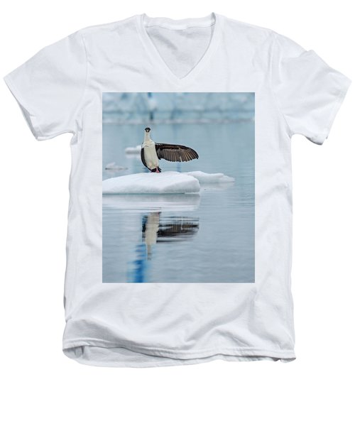 Men's V-Neck T-Shirt featuring the photograph This Way by Tony Beck