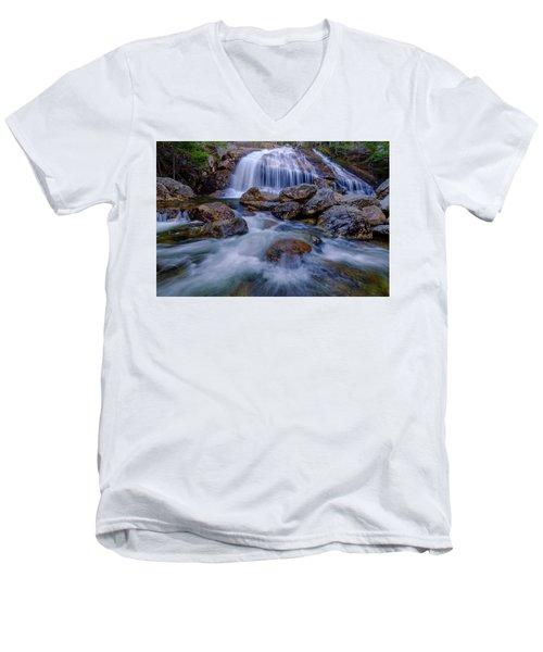 Thompson Falls, Pinkham Notch, Nh Men's V-Neck T-Shirt