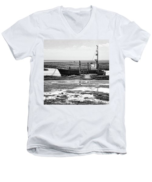 Thornham Harbour, North Norfolk Men's V-Neck T-Shirt by John Edwards