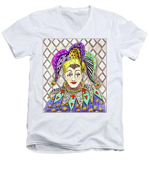 Thoughtful Jester Men's V-Neck T-Shirt