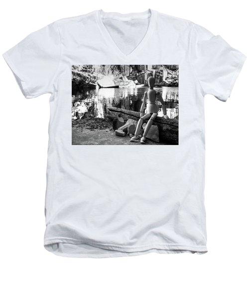 Thoughts Reflected Men's V-Neck T-Shirt