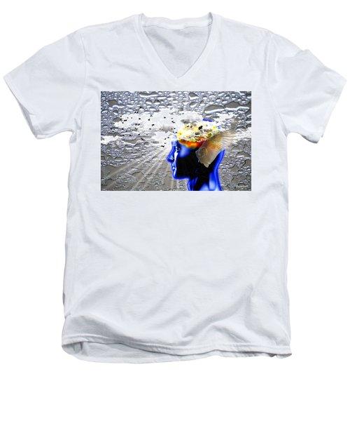 Thougths Are Like Birds Men's V-Neck T-Shirt