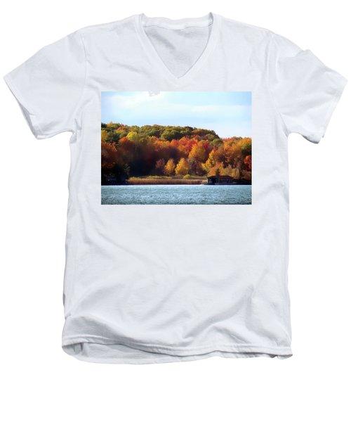 Thousand Island Color Men's V-Neck T-Shirt