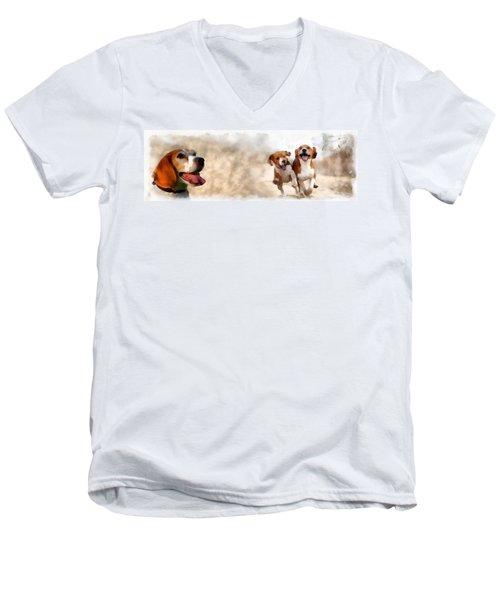 Three Amigos Men's V-Neck T-Shirt by Maciek Froncisz